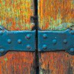 Deventer in detail: oude deur