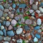 De stenen op het oprijpad van ons huis