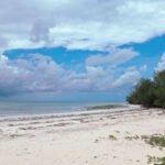 Wolkenlucht op het strand van Zanzibar
