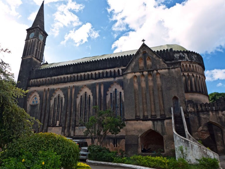 Anglicaanse kerk gebouwd op voormalige slavenmarkt in Zanzibar