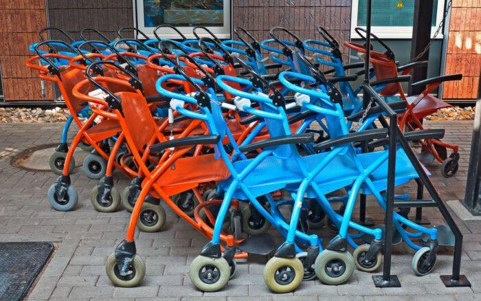 Parkeerplaats voor rolstoelen