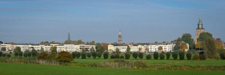 Panorama van de skyline van Zutphen