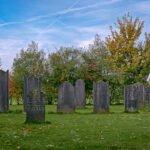 Grafstenen op de Joodse begraafplaats in Bronkhorst