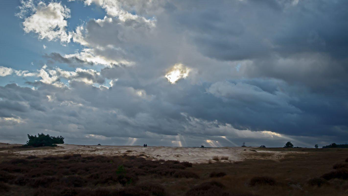 Donkere wolken boven de Hoge Veluwe
