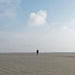 Alleen op het strand van Schiermonnikoog