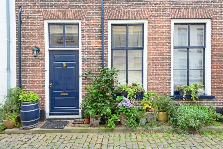 Huiselijkheid met gevels in het stadje Doesburg