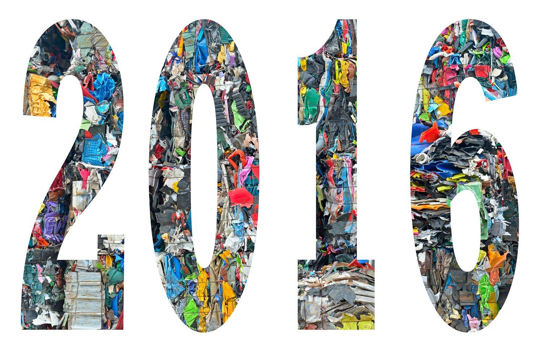 Goede voornemens - het jaar 2016 gekleurde snippers